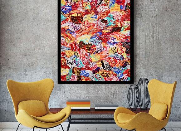 Œuvre originale abstraite Exaltation 24x30 Aro Artiste Peintre