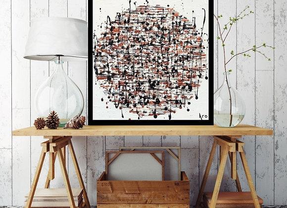 Œuvre originale abstraite Follow your path 20x20 Aro Artiste Peintre