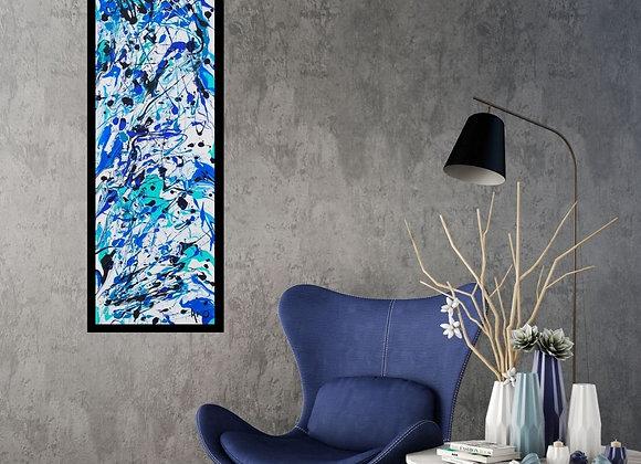 Œuvre originale abstraite Make difference 10x30 Aro Artiste Peintre