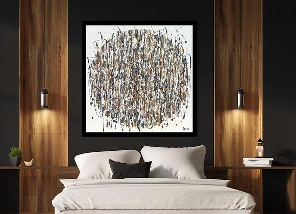 Œuvre originale abstraite Une force en moi 30x30 Aro Artiste Peintre