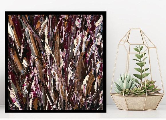 Œuvre originale abstraite Vue d'automne 6x6 Aro Artiste Peintre