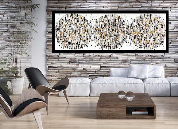 Oeuvre originale abstraite I believe in us 60x20 Aro artiste peintre