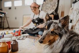 Aro Artiste en studio - Art abstrait