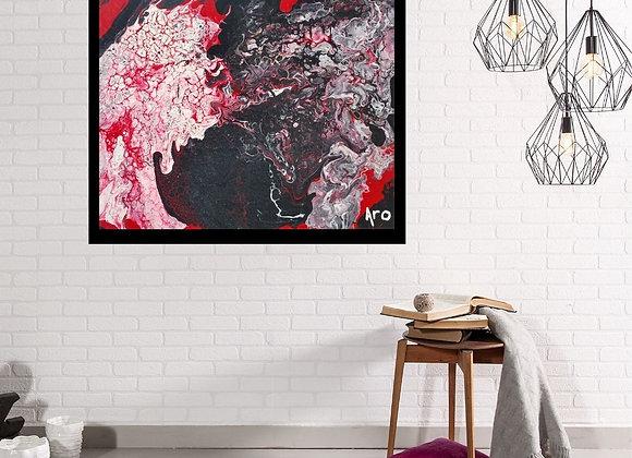 Œuvre originale abstraite Le baiser 20x16 Aro Artiste Peintre