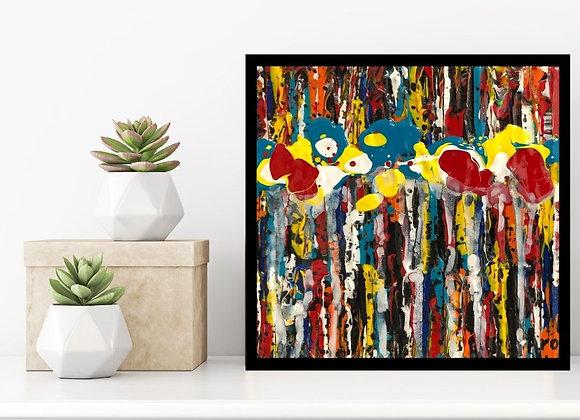 Œuvre originale abstraite Découvrir 6x6 Aro Artiste Peintre