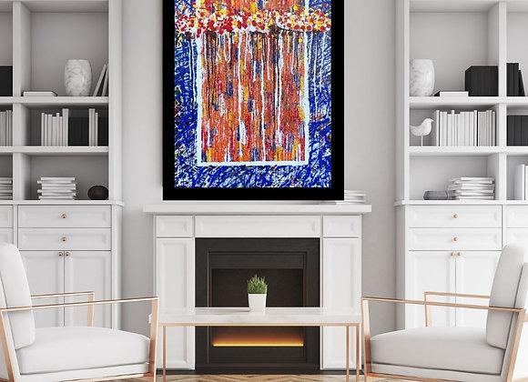 Œuvre originale abstraite Between us 24x36 Aro Artiste Peintre