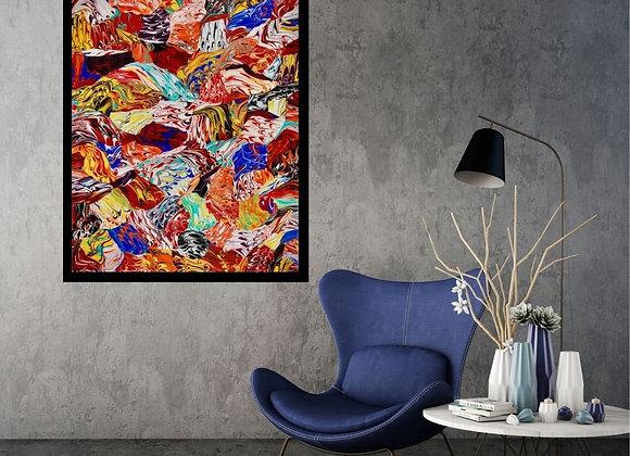 Œuvre originale abstraite Vitality 24x30 Aro Artiste Peintre