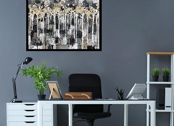 Œuvre originale abstraite Vérité 24x18 Aro Artiste Peintre