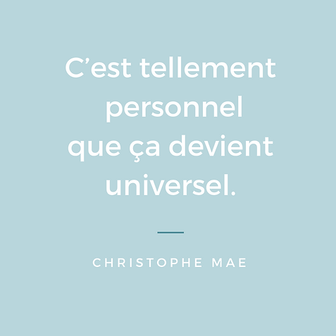 Citation Christophe Mae