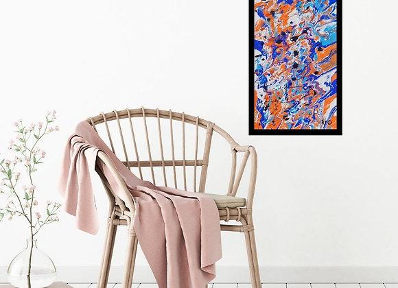 Œuvre originale abstraite Don't give up 12x24 Aro Artiste Peintre