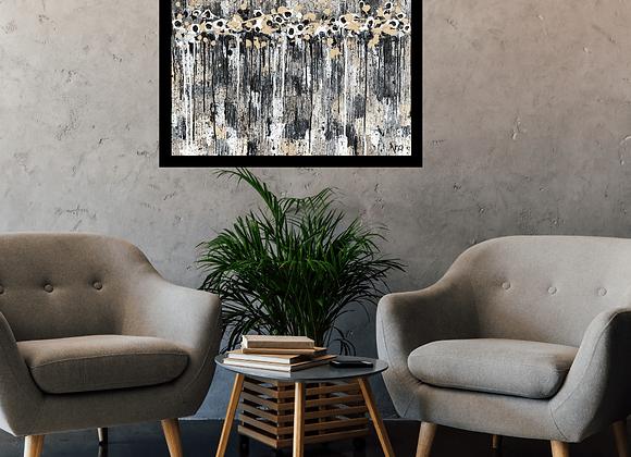 Œuvre originale abstraite Entre l'ombre et la lumière 24x18 Aro Artiste Peintre