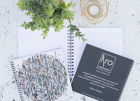 Cahier de note d'Aro, artiste peintre
