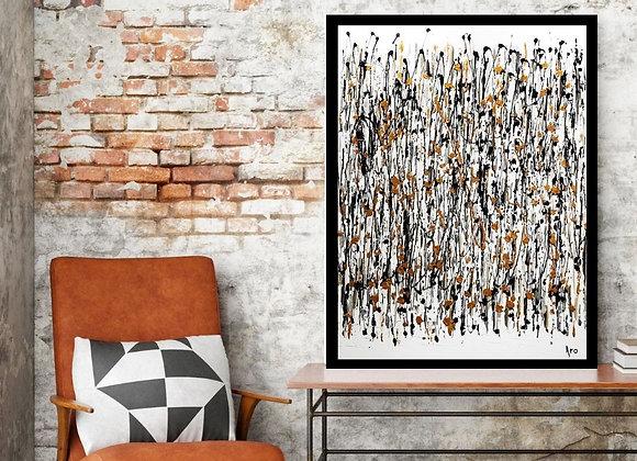 Oeuvre originale abstraite Et si 30x40 Aro artiste peintre