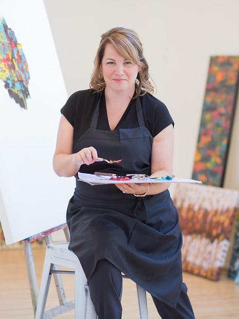 Femme d'affaires de Québec, Caroline Bergeron est aussi artiste peintre