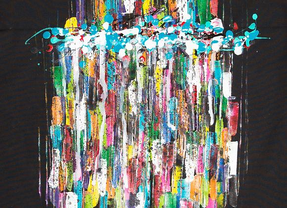 Tablier de cuisine peint à la main par Aro artiste peintre