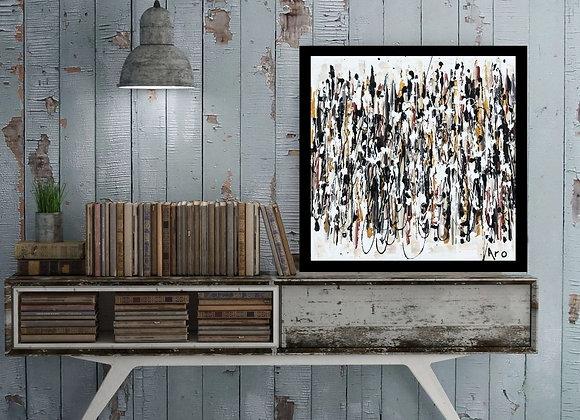 Œuvre originale abstraite Évolution 16x16 Aro Artiste Peintre