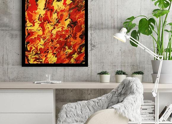Œuvre originale abstraite Sunny day 18x24 Aro Artiste Peintre