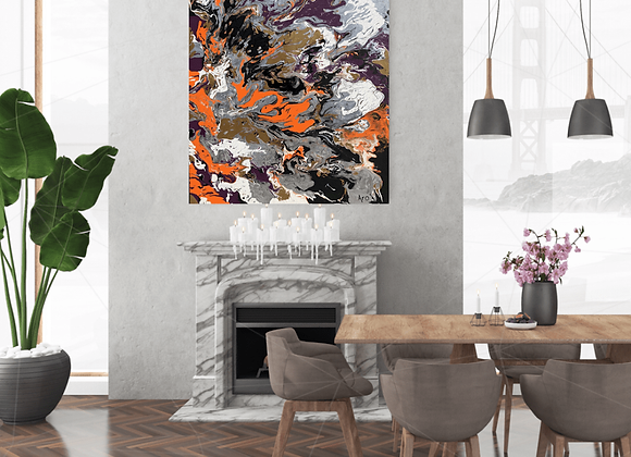 Œuvre originale abstraite Emprise 36x48 Aro Artiste Peintre