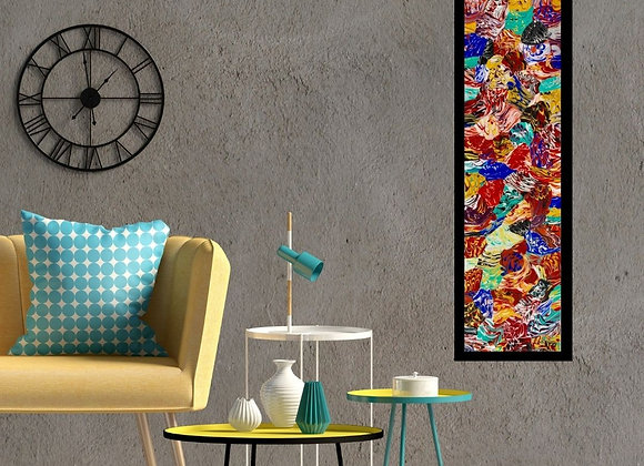 Œuvre originale abstraite Globality 12x48 Aro Artiste Peintre