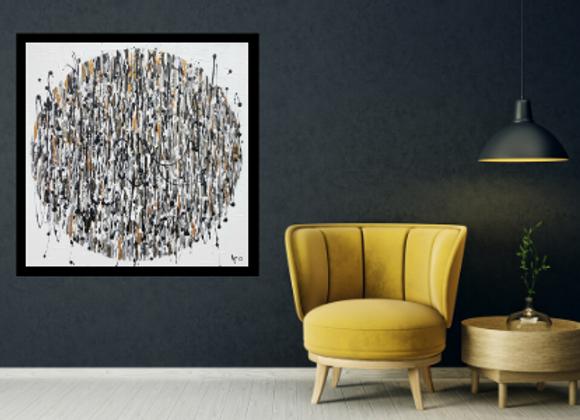 Œuvre originale abstraite Sous les projecteurs 30x30 Aro Artiste Peintre