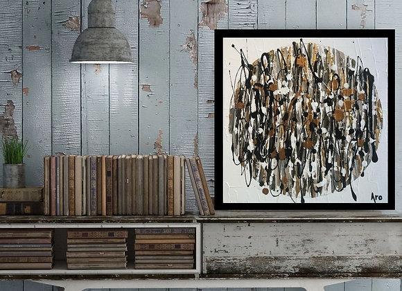 Œuvre originale abstraite Espoir infini 12x12 Aro artiste peintre