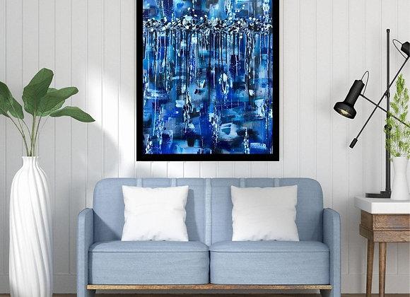 Œuvre originale abstraite En moi 30x40 Aro Artiste Peintre