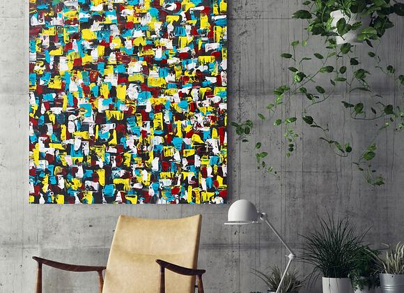 Œuvre originale abstraite Insolite 36x50 Aro Artiste Peintre
