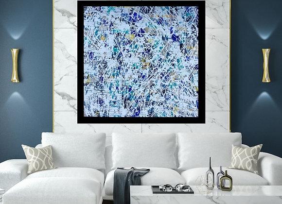 Œuvre originale abstraite En profondeur 36x36 Aro Artiste Peintre