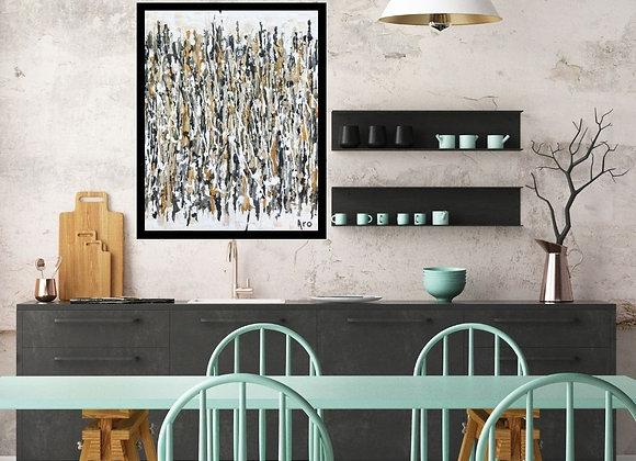 Œuvre originale abstraite Laissez être ce qui est 16x20 Aro artiste peintre