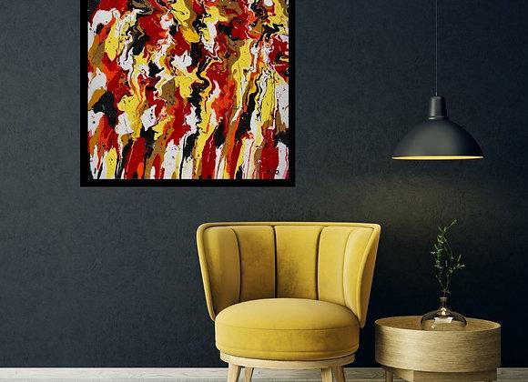 Œuvre originale abstraite Milano 30x30 Aro Artiste Peintre