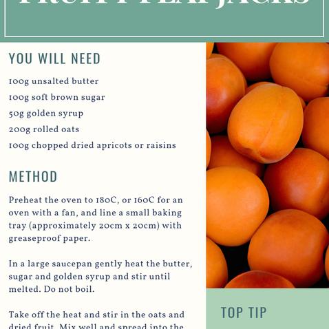Chewy Fruity Flapjacks