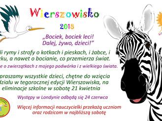 """Szkolne eliminacje do """"Wierszowiska"""" 2018"""