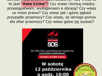Spotkanie 'Hate Crime Awareness'
