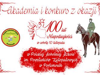 Akademia i konkurs z okazji 100 rocznicy odzyskania niepodległości przez Polskę w Polskiej Szkole w