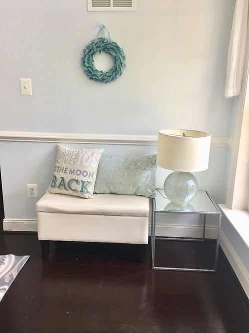 Mirrored top side table/nightstand