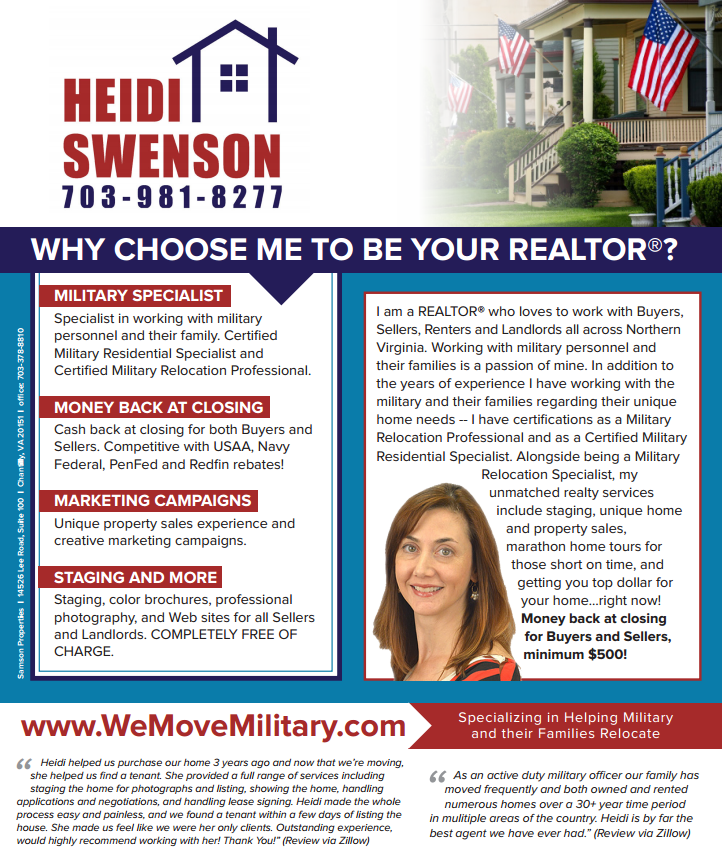 Why Choose Heidi Swenson As Your Northern Virginia Realtor.fw
