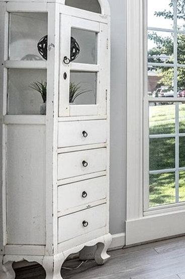 White, antique cabinet
