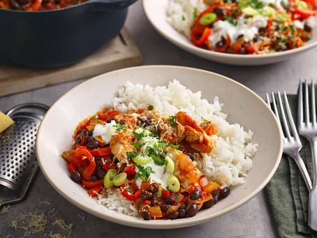 Chicken and black bean chilli