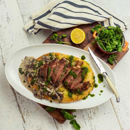 Seared steak flatbread sharer