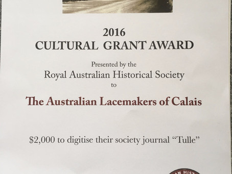 Lacemakers receives Arts NSW Cultural Grant