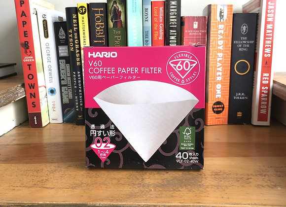 Hario Coffee Paper Filters - 40pk