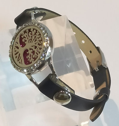 Bracelet montre aromathérapie arbre de vie