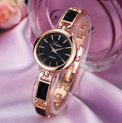 Montre-bracelet doré/noir