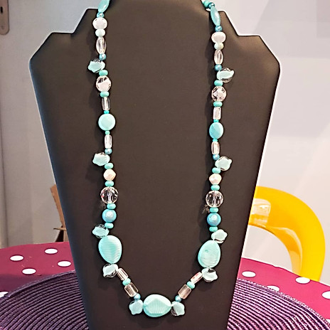 Collier grosses perles turquoise