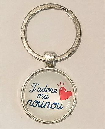 Porte-clés J'adore ma nounou