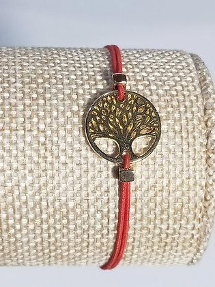 Bracelet élastique doré arbre de vie