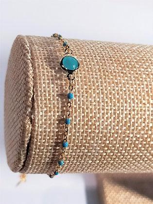 Bracelet doré/turquoise