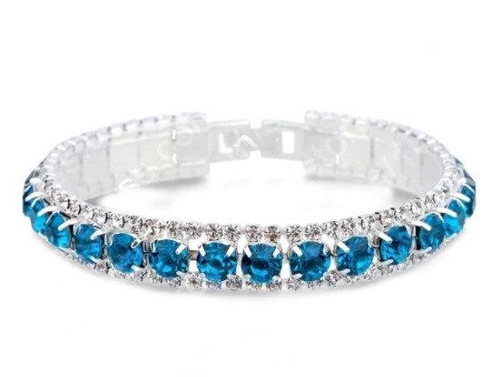 Bracelets en argent Zircon bleu