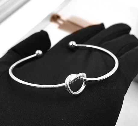 Bracelets ajustables en argent nœud