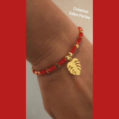 Bracelet rouge & or